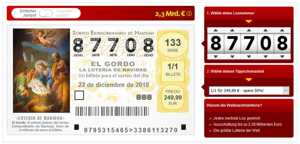 El Gordo Spielschein - lottoland